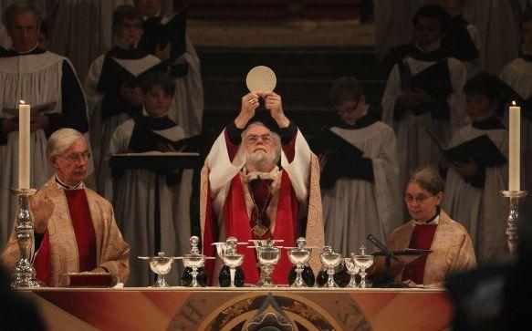 Rowan Williams celebrates the Holy Eucharist at Canterbury Cathedral (2012)
