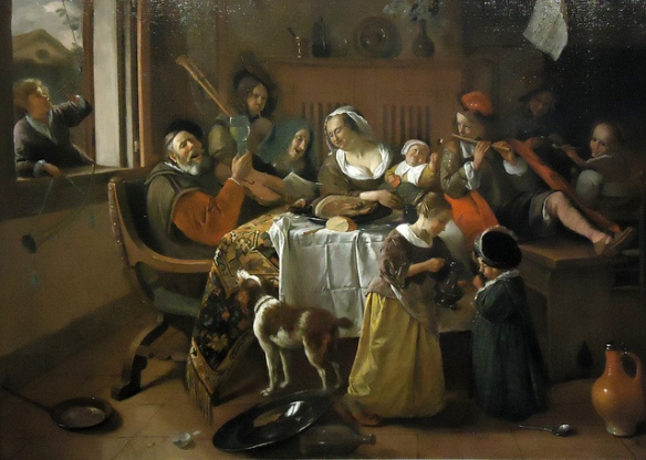 """The Merry Family"" (1668) by Jan Havicksz Steen"