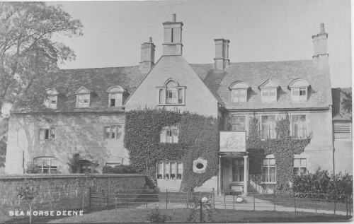 The Seahorse Inn, near Corby, Northamptonshire. This was originally the 17th century dower house for the local landowners, the Brudenells of Deene, before being changed into a hotel in the 20th century. Thornton Lacey parsonage might have looked like this.
