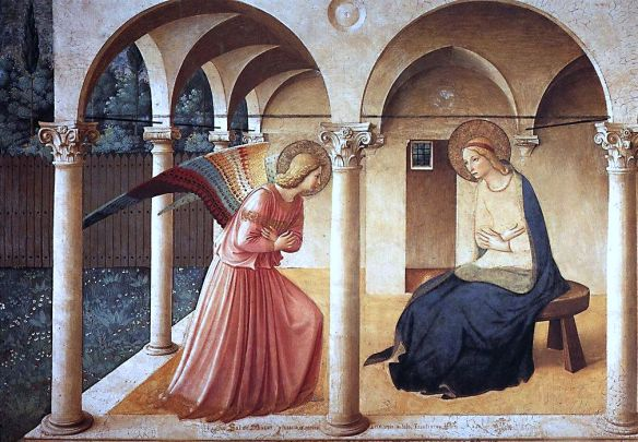 The Annunciation (1435) by Fra Angelico