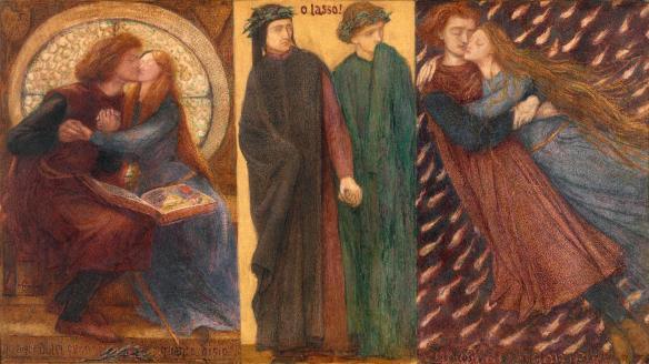 """""""Paolo and Francesca da Rimini"""" (1855) by Dante Gabriel Rossetti"""