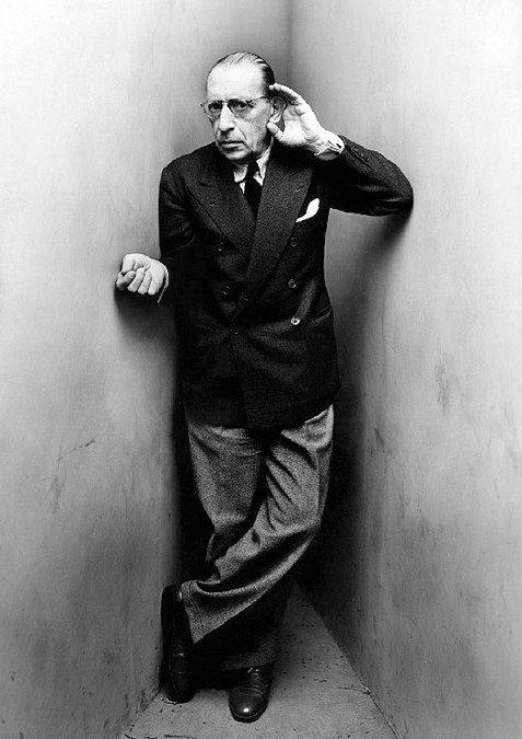 Photograph of Igor Stravinsky by Irving Penn. New York, April 22, 1948