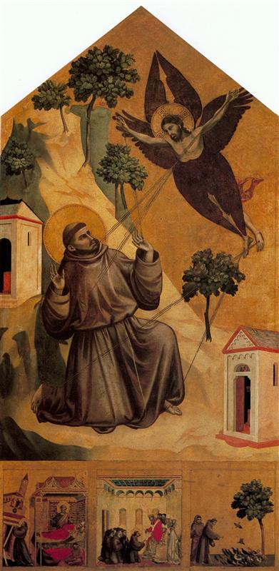 "Giotto, ""St. Francis Receiving the Stigmata"" (1295-1300)"